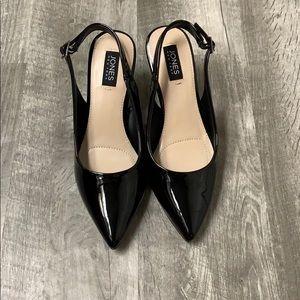 NEVER WORN Black Slingback Heels